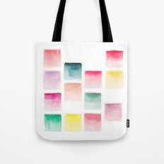Summer Paint Chips Flat Lay Photograph Tote Bag