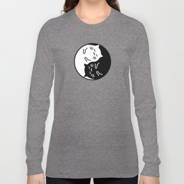 Cute cats Yin Yang sign Long Sleeve T-shirt
