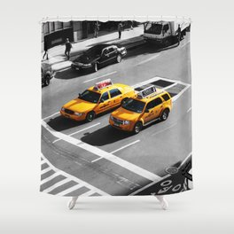 New York Cabs. Shower Curtain