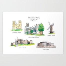 Historical Kent, England Art Print