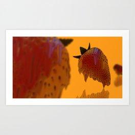 Strawberry Drip Art Print