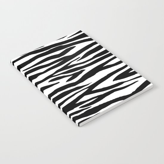 Zebra stripes pattern black and white Notebook