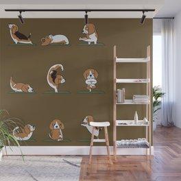Beagle Yoga Wall Mural