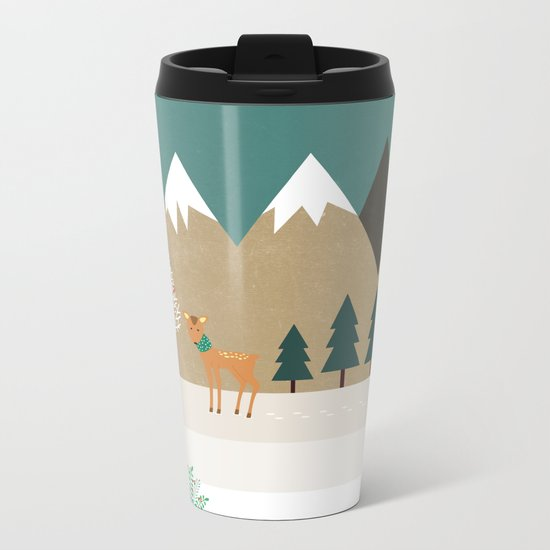 Hello winter Metal Travel Mug