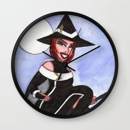 Lizzie Halloween Ride Wall Clock