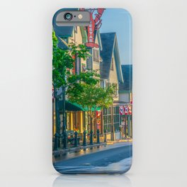 Bar Harbor Maine Main Street Dawn Print iPhone Case