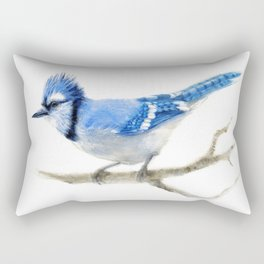 Blue Jay watercolor Rectangular Pillow