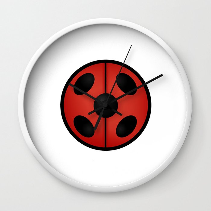 Miraculous Ladybug Logo Wall Clock by asticou | Society6