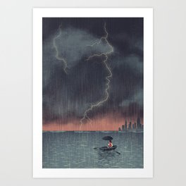 Trump and Climate Change Art Print