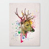 deer Canvas Prints featuring deer by mark ashkenazi