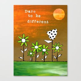 """""""Dare To Be Different"""" Original design by PhillipaheART Canvas Print"""