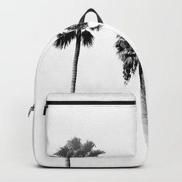 Black + White Palm Trees Backpack