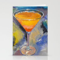 martini Stationery Cards featuring Mango Martini by Michael Creese