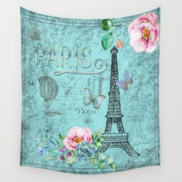 Paris - my blue love Wall Tapestry