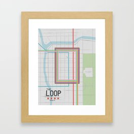 Chicago's Loop Framed Art Print