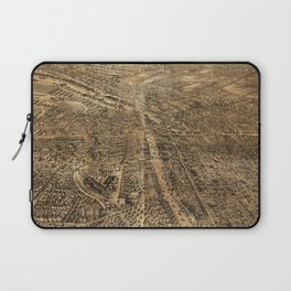Vintage Pictorial Map of Syracuse NY (1868) Laptop Sleeve