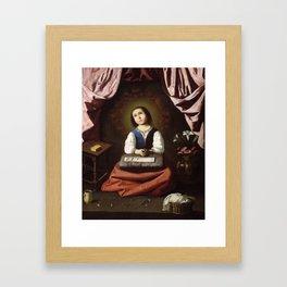 The Young Virgin, Francisco de Zurbaran, 1632 Framed Art Print