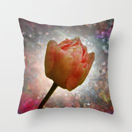 flowers on texture -101- Throw Pillow