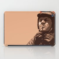 steve mcqueen iPad Cases featuring S McQueen by Rich Lee