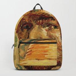 Van Gogh, Self-Portrait with Straw Hat, – Van Gogh,Vincent Van Gogh,impressionist,post-impressionism Backpack
