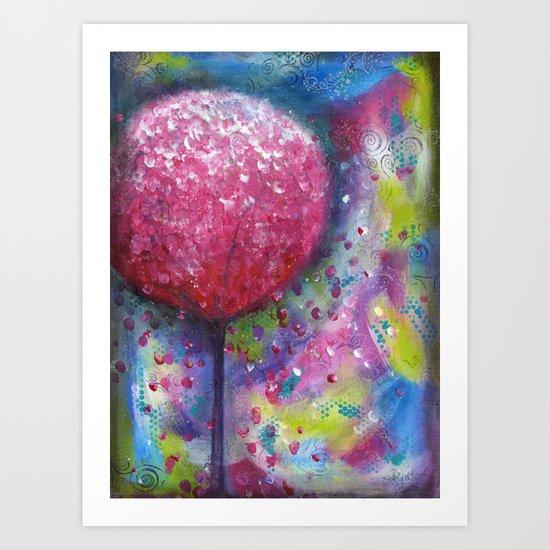 The Love Tree Original Painting By Mimi Bondi Art Print By