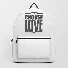 Choose Love Typography Backpack