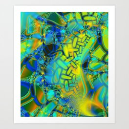 Abstract Layering Art Print