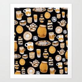 Rust Ceramics Art Print