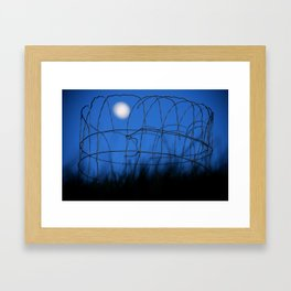 Moon Garden Framed Art Print