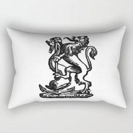 Anchor and rampant lion. Rectangular Pillow