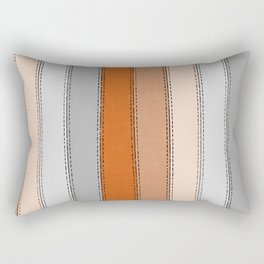 orange lines Rectangular Pillow