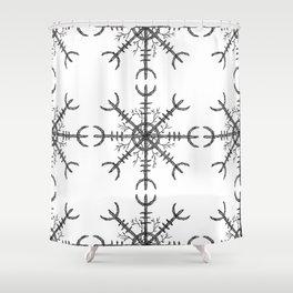 Aegishjalmur Shower Curtain
