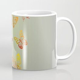 orange - yellow butterfly Coffee Mug