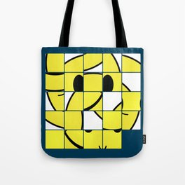 Acid Smiley Shuffle Puzzle Tote Bag
