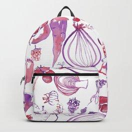 Winter vegetables - purple - watercolour Backpack