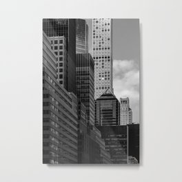 432 Park Avenue Condominiums and modern skyscrapers in Midtown Manhattan New York City Metal Print