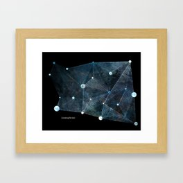 Connecting The Void Framed Art Print