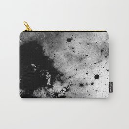 War - Abstract Black And White Carry-All Pouch
