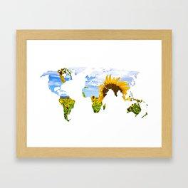 World of Sunflowers Framed Art Print