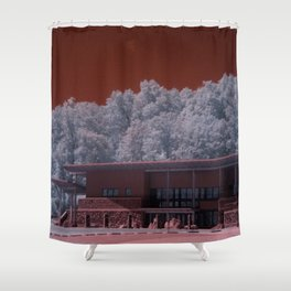 R72: Mars Station #E72 Shower Curtain