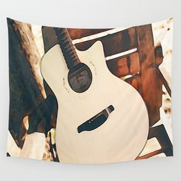 Acoustic Guitar Wall Tapestry
