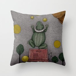 Frogking (2) Throw Pillow