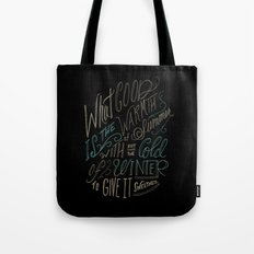 WINTER - Steinbeck Quote Tote Bag