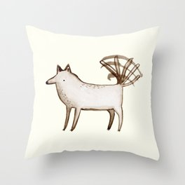 """I'm So Happy"" - Dog Throw Pillow"