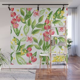Orchid Jungle Wall Mural