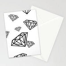parachute diamonds Stationery Cards