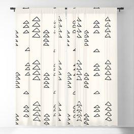 Minimalist Triangle Line Drawing Blackout Curtain