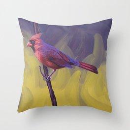 Nothern Cardinal Throw Pillow