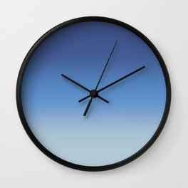 Pantone Classic Blue, Provence Blue and Baby Blue Gradient Ombré Wall Clock