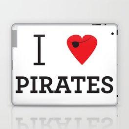 I heart Pirates Laptop & iPad Skin